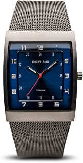 Time 11233-078 Mens Classic Collection Watch with Mesh Band and Super Hardened Mineral Glass. Designed in Denmark.