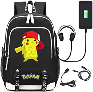 AUGYUESS Cartoon Anime School Bag Daypack Book Bag Laptop Bag Backpack for Children with USB Charging Port (2)