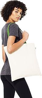 Canvas Tote Bag Reusable Foldable Shopping bag with Handles - 100% Organic Cotton Premium Quality Plain Canvas (Natural - ...