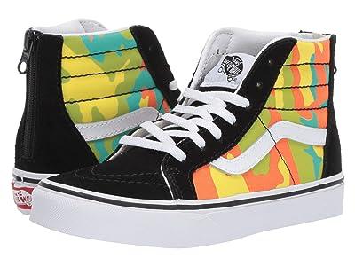 Vans Kids Sk8-Hi Zip (Little Kid/Big Kid) ((pop Camo) Blazing Yellow/Black) Boys Shoes