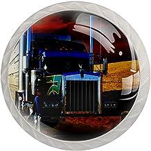 AITAI Vervoer Vrachtwagen Ronde Kabinet Knop 4 Pak trekt Handvatten