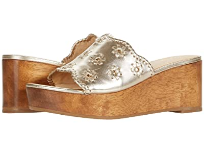 Jack Rogers Rory Wedge (Platinum) Women