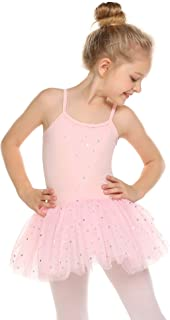 Zaclotre Girls Skirted Camisole Leotard Glitter Tutu Dress Ballet Dance Clothes
