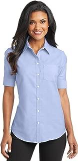 womens Short Sleeve SuperPro Oxford Shirt (L659)