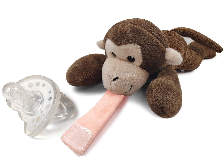 Detachable Luxury goods Pacifier Holder - Infant Plush Animal Soot Boston Mall
