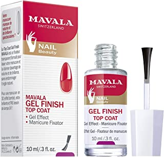 Mavala Gel Finish Top Coat Tratamiento de Manicura con Efecto Gel para las Uñas + Volumen + Suavidad + Brillo Extra 10 ml