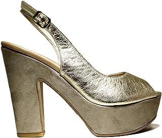 cf244783d3 ... PRIMAVERA VERANO 2016 PLATA CUERO · 119,00 €119,00€ · DAVID HARON P03TC  Lam. Zapatos de Mujer Sandalias de tacón, tacón Alto, colección
