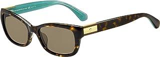 Kate Spade Women's Marilee/p/s Rectangular Sunglasses, Havana Turquoise/Bronze Polarized, 53 mm
