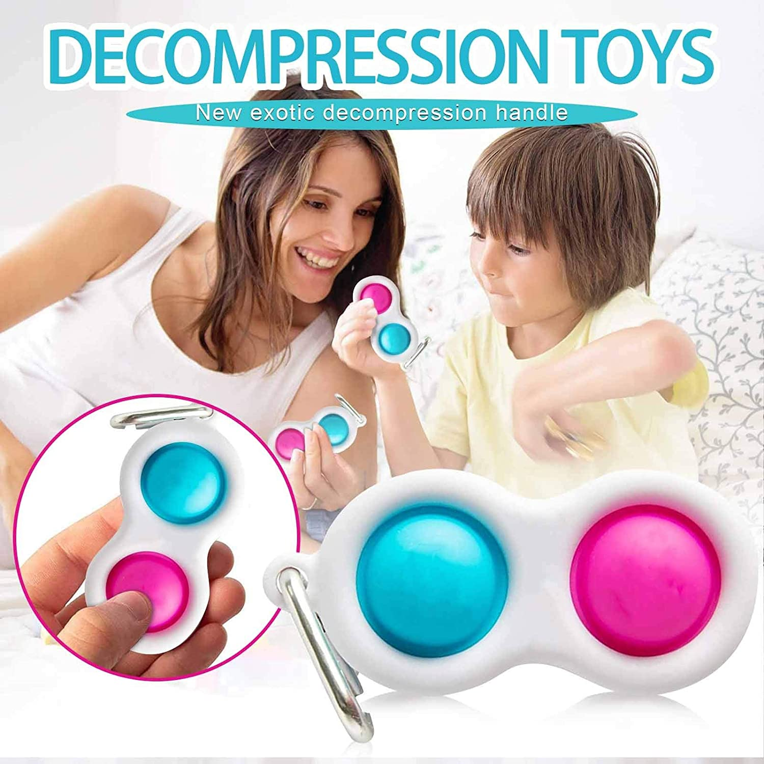 Sensory Toys Fidget Simple Dimple Toy Early Educational Fidget Toy Kids Adults Anxiety Autism Toy Soft Silicone Fidget Toy for Kids Anxiety Stress Reliever Office and Desk Toy