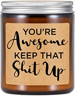 Miracu Lavender Scented Candle - You're Awesome - Thank You Gifts