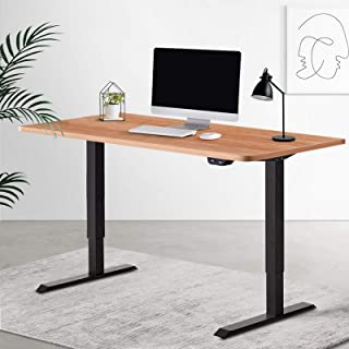 Artiss 140cm Electric Motorised Height Adjustable Standing Desk Laptop Computer Sit Stand Up Table Roskos I Black Frame