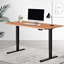 Artiss 140cm Electric Motorised Height Adjustable Standing Desk Laptop Computer Sit Stand Up Table Roskos I Black Frame