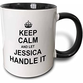 11 oz 3dRose 233346/_8 Keep Calm And Let Jessica Handle It Mug