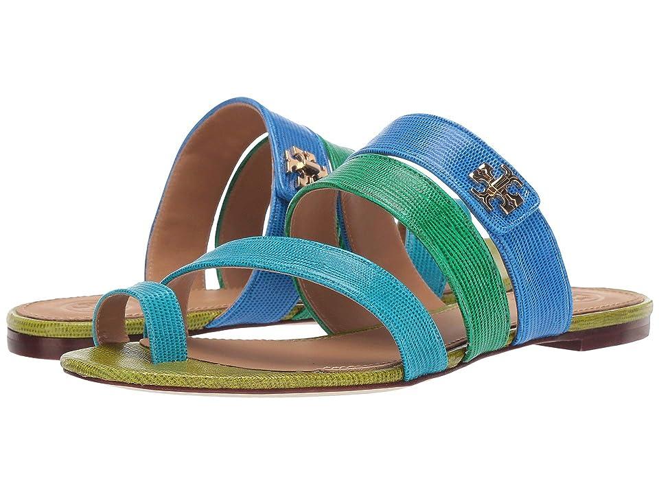 Tory Burch Kira Toe Ring Sandal (Bright Tropical Blue Multi) Women