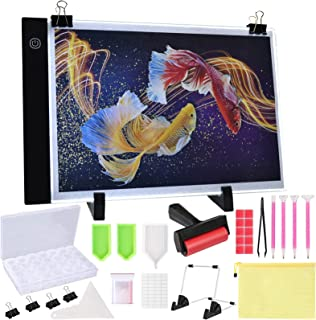 B4 Diamond Painting Light Pad with Metal Stand, Paint by Diamonds LED Light Table Storage Containers Accessories for Adults