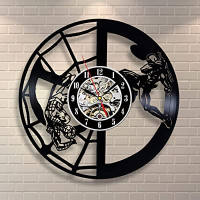 Wood Crafty Shop Marvel Legends Comics Art Vinyl Record Wall Clock Gift for Him and Her Unique Wall Decor The Best Gift Idea for Any Event Birthday Gift, Wedding Gift