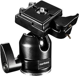 Mantona Głowica kulowa XL do statywu Scout (maks. obciążenie ok. 6 kg, w zestawie adapter gwintowany 3/8 na 1/4 cala i pły...