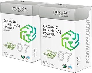 Organic Bhringraj Powder by Merlion Naturals | Eclipta alba/False Daisy | 454gm/ 16OZ/ 1lb | USDA NOP Certified 100% Organ...