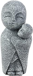"Ebros Decorative Japanese Buddha Jizo Bosatsu Monk Cradling A Baby Figurine 5"" H Protector of Children Born and Unborn Talisman"