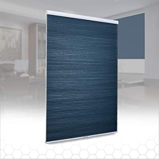 SUNFREE Honeycomb Blinds Cellular Shades Cordless Light Filtering Shades for Window and Door, Home and Office 29 x 64 inch Blue