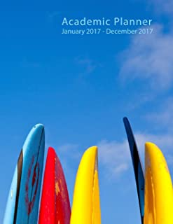 2017 Academic Planner: Surf Boards - 8.5 X 11 - full size