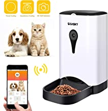 Automatic Cat Dog Pet Smart Feeder - App Control Pet Food Dispenser with WiFi Camera Video 4.5L Large Capacity Distribution Alarms Portion Control Voice Recording Timer Programmable