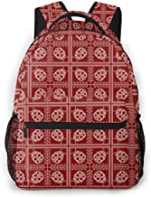 Backpack Beatles Lattice School Backpacks Lightweight Canvas Bookbags Fashion Casual Daypack Durable Water Resistant Student Travel Hiking Camping Outdoor Daypack Women Men
