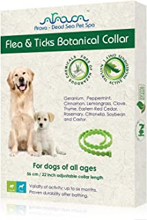 Arava Flea & Tick Prevention Collar - for Dogs & Puppies - Length-25`` - 11 Natural Active Ingredients - Safe for Babies &...