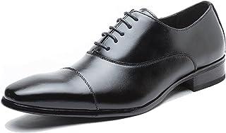 [ハンフウ] HUMG FENG ビジネスシューズ メンズ 紳士靴 フォーマル カジュアル 通勤 通学 内羽根 革靴 ストレートチップ