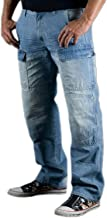Juicy Trendz Denim Men Motorbike Biker Trousers Jeans Protective Aramid Black