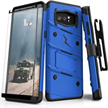 ZIZO Bolt Series Samsung Galaxy Note 8 Case Military Grade Drop Tested with Tempered Glass Screen Protector Holster Blue Black