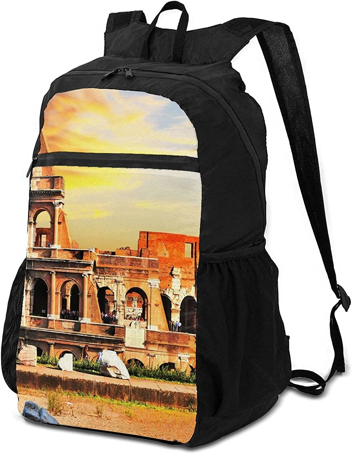 Colosseum Sunset Beautiful Sky Year-end annual account Backpack online shopping Packable for Lightweight