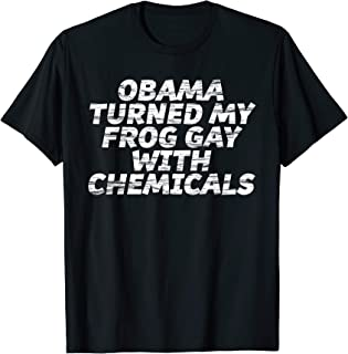 Best obama turned my frog gay shirt Reviews