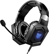Best Gaming Headset Xbox One Headset with 7.1 Surround Sound, Noise-Canceling Gaming Headphones with Mic, RGB LED Light & Memory Earmuffs Compatible with PC, PS4, Xbox One, Mac, Laptop(Black) Review
