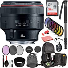 $1849 » Canon EF 85mm f/1.2L II USM Lens USA with Professional Bundle Package Deal Kit for Canon EOS Includes: DSLR Sling Backpack, 9PC Filter Kit, Sandisk 32GB SD + More