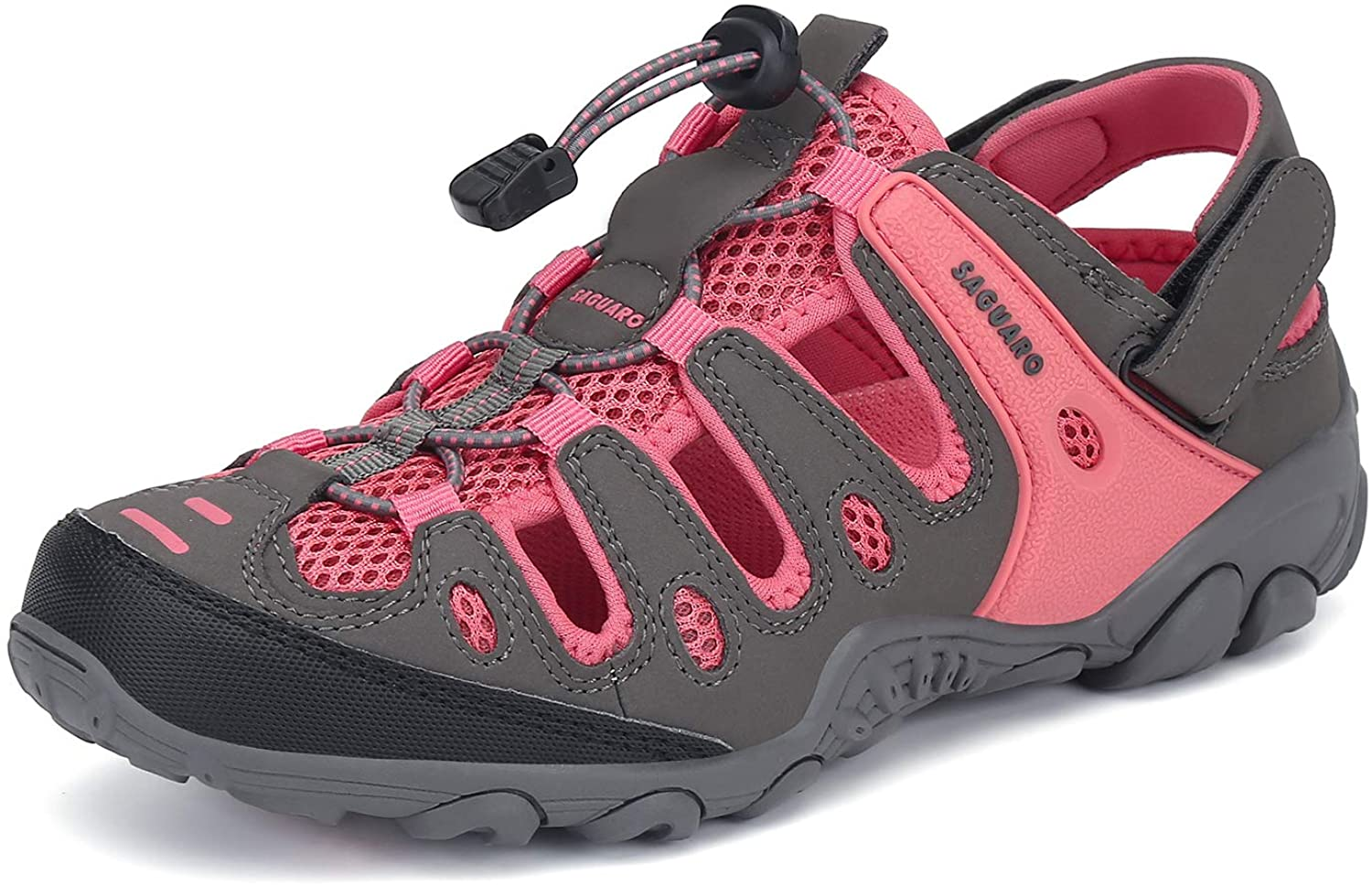 Mens Womens Outdoor Athletic Hiking Sandals Breathable Wading Stream Beach Walking Water Shoes Pink