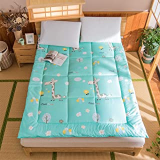 Japanese Roll-up Floor Mat, Thicken Soft Futon Mattress Pad Collapsible Breathable Mattress Topper Printed Tatami Sleeping Mat-f 60x120cm(24x47inch)
