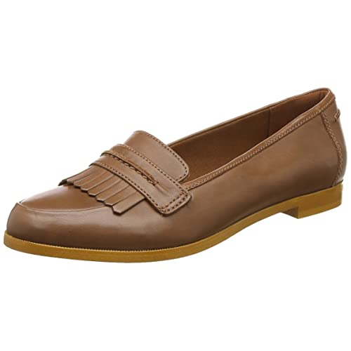 f175b46f309 Clarks Andora Crush Leather Shoes in Tan