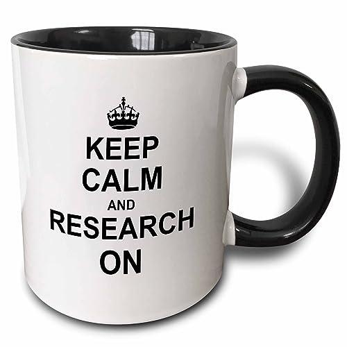 9c3b360b17b 3dRose 157763_4 Keep Calm and Research on Mug 11 oz Black