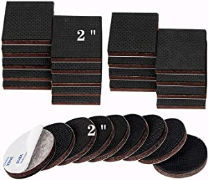 """Non Slip Furniture Pads, 2"""" 27pcs Premium Furniture Grippers SelfAdhesive Cuttable Rubber Feet for Furniture Feet – Ideal Non Skid Furniture Floor Protectors for Fixation in Place Furniture"""