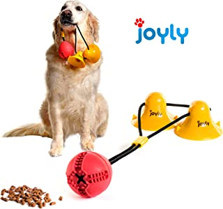joyly Suction Cups Dog Toy – Premium Quality Interactive Dog Toys – Non-Toxic and Safe Materials – Double Suction Cups Tug Toy for Dogs – Improves Oral Health – Engages Mind and Body