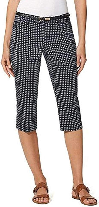 Gloria Vanderbilt Ladies' Anita Belted Capri Casual Summer Pants