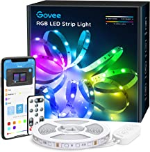 Govee 16.4ft Color Changing LED Strip Lights, Bluetooth LED Lights with App Control, Remote, Control Box, 64 Scenes and Music Sync Lights for Bedroom, Room, Kitchen, Party