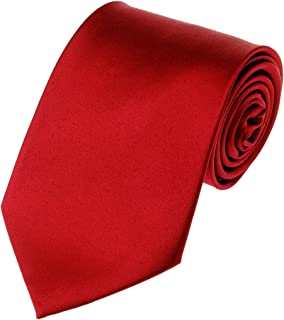 Men's Smooth Satin Solid Color Extra Long XL Necktie