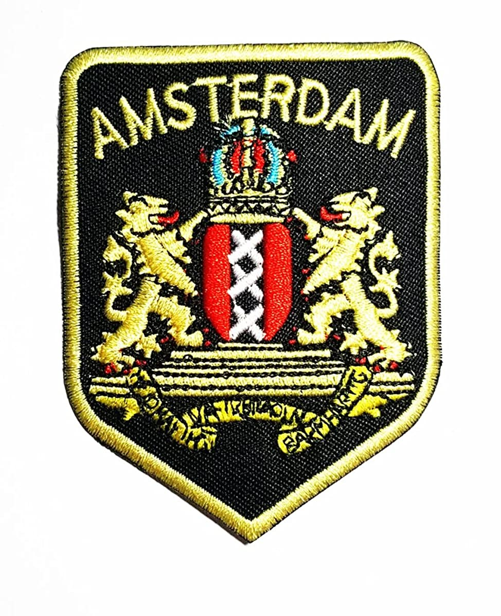 Amsterdam Flag Band Logo Patch Sew Iron on Embroidered Badge Sign Costume Gift