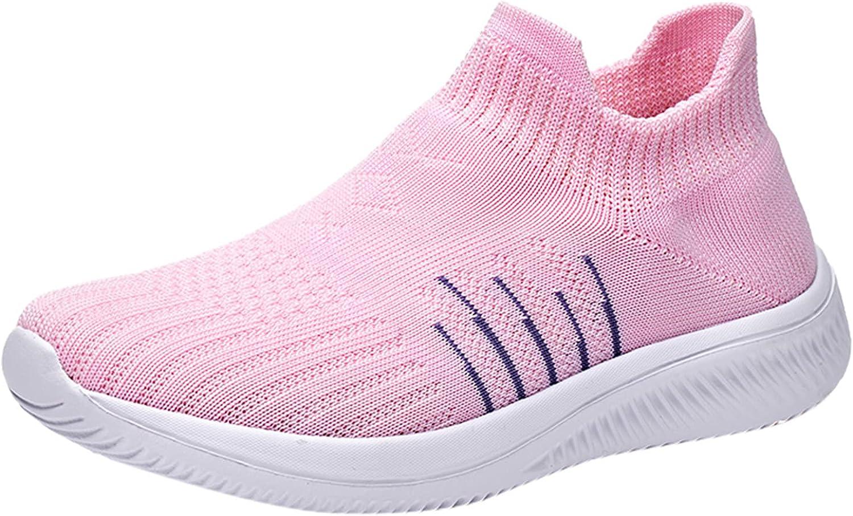 ZiSUGP Walking Sneakers for Women Slip on Sock Sneakers Comfortable Light Weight Non Slip Tennis Fashion Sneakers