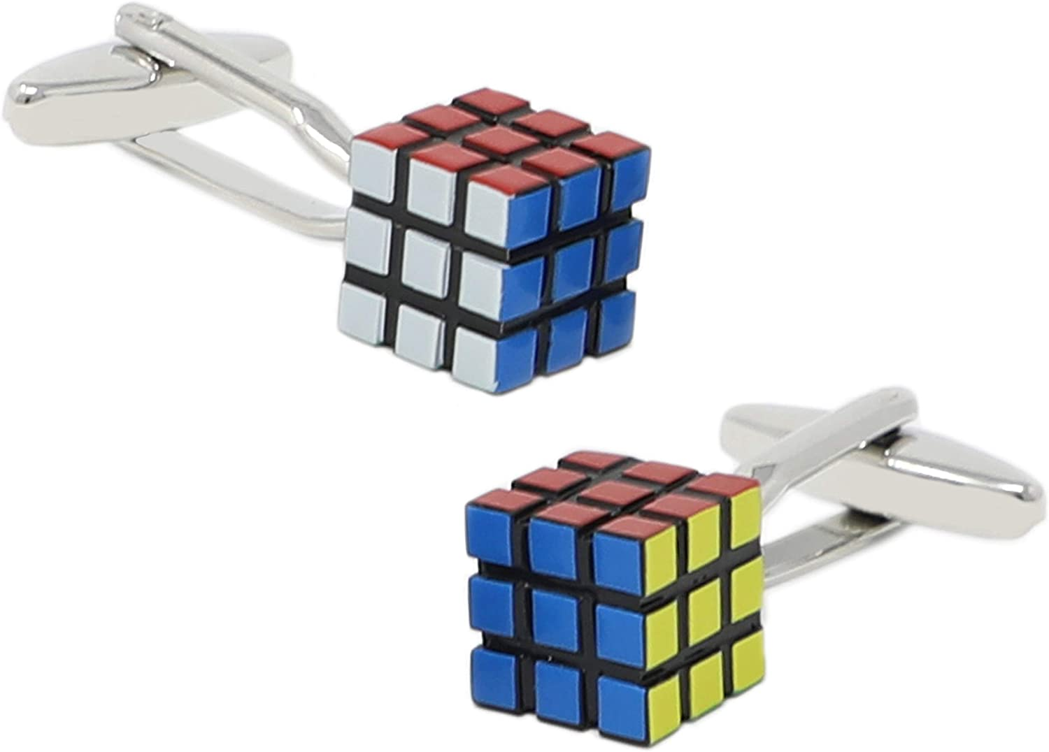 MENDEPOT Novelty Magic Cube Cuff Links with Gift Box Puzzle Cube Cufflinks