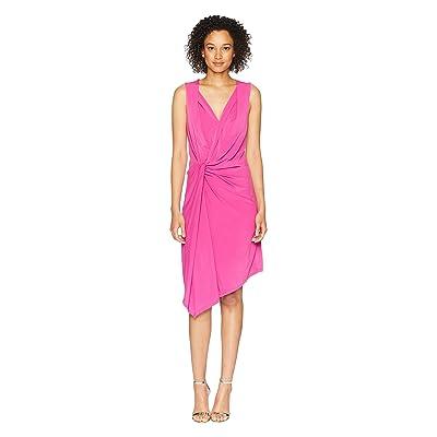 Ellen Tracy Twisted Front Sleeveless Dress (Orchid) Women