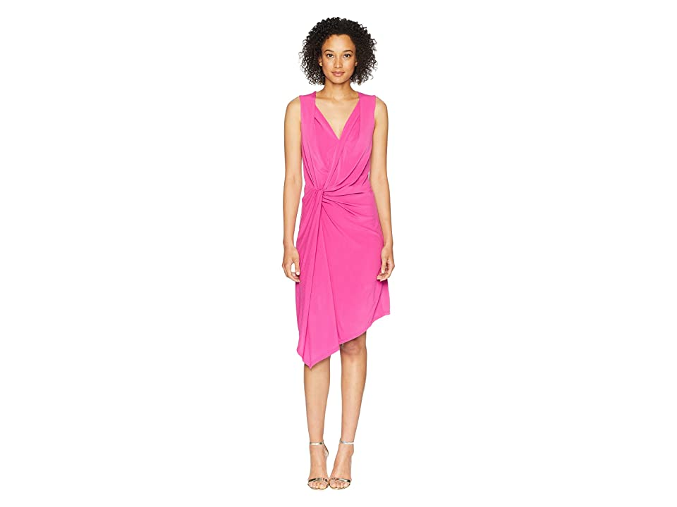 Ellen Tracy Twisted Front Sleeveless Dress (Orchid) Women