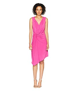 Twisted Front Sleeveless Dress
